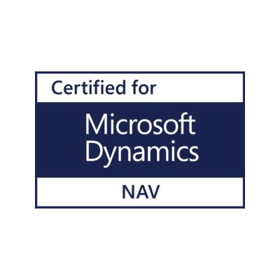 Certificeret af Microsoft til MS Dynamics NAV
