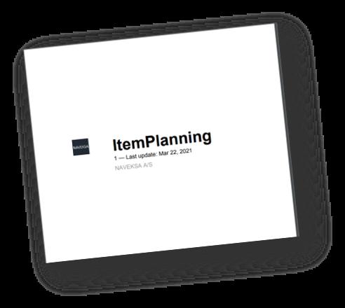 NAVEKSA ItemPlanning manual
